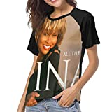Photo de Kmehsv T-Shirt à Manche Courte Femme, Tina Turner All The Best Turner Tina Womens Short Sleeve Raglan Baseball T Shirt Black par Kmehsv
