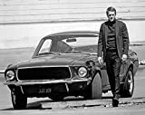Steve McQueen & Ford Mustang–Bullit–B & W Foto–Qualität Schweres Mauspad