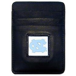NCAA North Carolina Tar Heels Leather Money Clip/Cardholder Wallet
