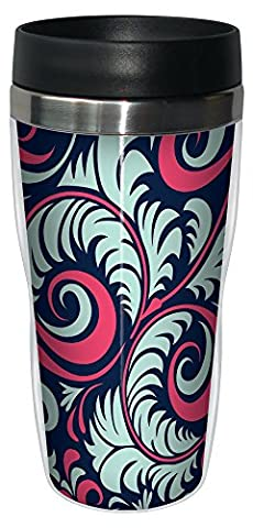 Baumfreie Grüße 7760016Oz modernes perfekt Swirls Kunst SIP 'n Go Travel Tumbler, (Rosa 16 Ounce Tumbler)