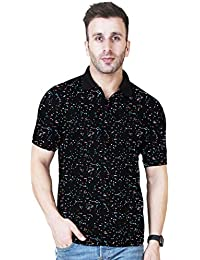 Veirdo Men's Cotton Half Sleeve Printed Polo T-Shirt