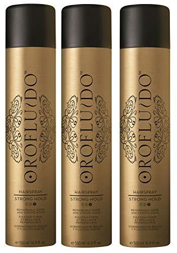 3er Hairspray Orofluido Strong Hold Haarspray Shine je 500 ml = 1500 ml