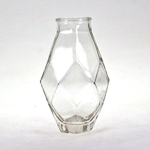 Vase Glas Flasche klar Ø 8cm H16cm eckig