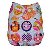 Baby Bucket All-In-One Bottom-bumpers Cloth Diaper With 1 Cloth Diaper pad (White Mix Pattern)