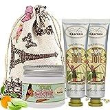 Coffret Beauté Main : 1 Gommage 50ml aux Huiles Amande Douce et Olive + lot 2 Cremes...