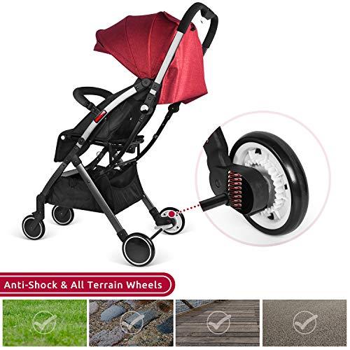 51OZMY917NL - Besrey Silla de paseo de bebe Compacta y Ligera Cochecito para Viaje Plegable Carritos de Bebe 3 años
