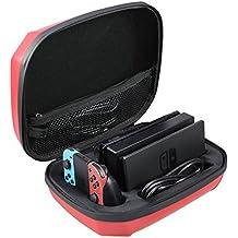 AmazonBasics Ultimate Storage Case for Nintendo Switch - Red