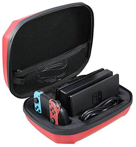 AmazonBasics - Custodia per Nintendo Switch, colore: rosso