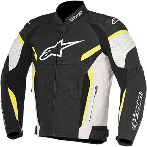Alpinestars Alpinestars-Jacke Moto-GP Plus R V2Airflow Leder schwarz weiß gelb Neon