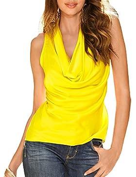 Camisas Sin Mangas De La Camiseta De La Gasa De Las Mujeres Chaleco Top
