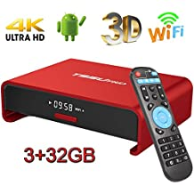 Android TV Box, super-vip S10 Smart 4 K TV Box Android 7.1 Amlogic 912 Octa Cora 3 GB DDR4 RAM 32 GB ROM Set Top Boxes Soporte 3d 4 K HD TV Bluetooth 4.1 WIFI