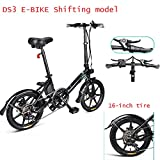 Bicicleta eléctrica plegable para adultos, cambio de bicicleta eléctrica, scooter eléctrico de 16 pulgadas con faro de...
