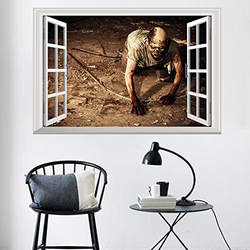 loween Haushalt Zimmer Wandsticker Wandgemälde Dekor Aufkleber Abnehmbaren Terror ()