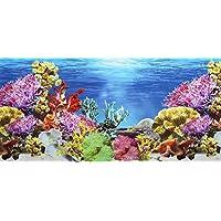 Pistacho Pet - Póster de doble cara para fondo de acuario, 45x 100cm.