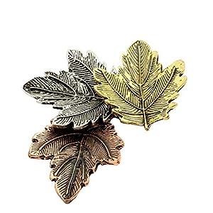 Arbeiten Sie Schmucksachen Tri-Color-Ahornblatt-Brosche Vintage Brosche übertriebener Brosche-eleganten schöne Broschen Ahornblätter Wedding Broschen X2233 Typs