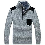 YeYan Homme Pullover Sweatshirt Col A Fermeture Eclair Manches Longues Manteau Supérieur