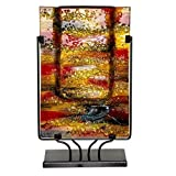Glasvase Benjamin Art im Murano Stil Deko Vase Glas Bunt auf Ständer 45 cm