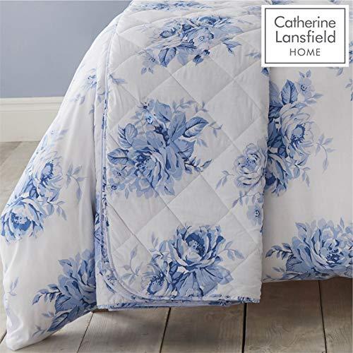 Catherine Lansfield Canterbury Couvre-lit Facile d'entretien, Bleu, Bedspread - 220x230cm
