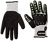 Portwest A722G8RL Anti Impact Cut Resistant 5 Glove, Regular, Size: Large, Grey/Black