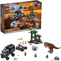 Lego Jurassic World Set Mattoncini Fuga sulla girosfera del Carnotaurus, 75929
