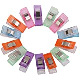 Imported Sewing Craft Quilt Binding Plastic Clips Clamps Pack of 50 Assorted Colors