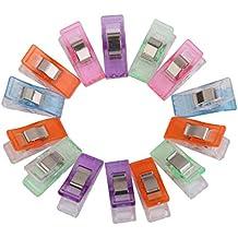 Lot de 50pcs Clips Pinces en Plastique pour Reliure Couture Artisanat Couleurs Assorties