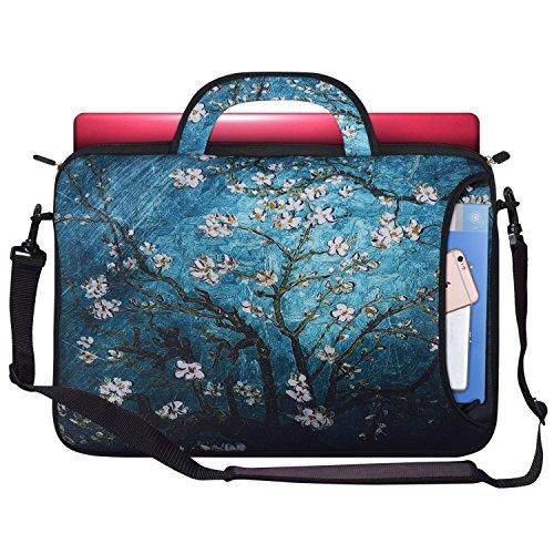 Zoresyn Wasserabweisende Neopren Laptoptasche,Schutzhülle,Tasche f.17,3 Zoll MacBook Air / Pro / Pro Retina und Laptop / Notebook / Ultrabook mit dem Reißverschluss und dem Griffe -