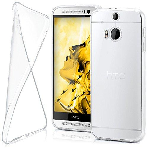 moex HTC One M8 | Hülle Silikon Transparent Klar Clear Back-Cover TPU Schutzhülle Dünn Handyhülle für HTC One M8/M8s Case Ultra-Slim Silikonhülle Rückseite