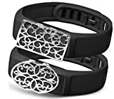 all4fit Fashion Fitness Band Bling Jewelry Accessory Charm for Garmin vivofit 3/2 / 1 hr vivosmart hr Activity Tracker (ONLY Bling Accessory, no Bands, NO TRACKERS)