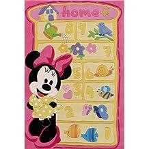 Disney Alfombra infantil / niños Minnie Mouse Multicolor 115x168 cm - Marca de calidad TÜV - 100% Poliacrílico - Dibujos animados - Handtufted - Cuarto de los niños