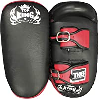 MMABLAST Top King Kicking Pads Ultimate - TKKPU (SB) Negro/Rojo, Medium, Negro/Rojo