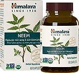 Himalaya USDA Neem Capsules - Suplemento Natural para obtener una Piel Limpia, remediar el Acné y detoxificar la Sangre - Una Mejor Alternativa al Aceite de Neem - 60 Pedazos (Neem - Skin Supplement)