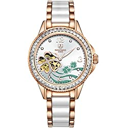 Fashion Lady watch/Automatic mechanical watches/Hollow out waterproof women's table-A