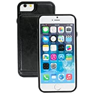 Brand New Apple iphone 6s Case cover, Apple iPhone 6s Black Designer 2-1 Multi-function 3 Card Slots Bumper Style Wallet Case Cover