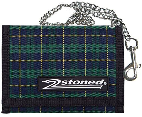 2Stoned Ketten-Geldbörse Wallet mit Label Speed in Checker Grün für Erwachsene und Kinder