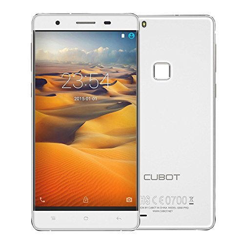 CUBOT S550 Pro Smartphone 4G LTE Android 5.1 MTK6735 64bit Quad Core 5.5″ Pantalla 3GB RAM 16GB ROM 8MP 13MP Cámaras Huella Digital