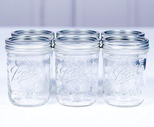 16 Mason Jar Oz (Ball Mason Jar 16oz Wide Mouth 6er/Set)