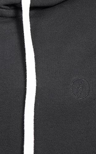 Banqert Herren Hoody, FAIRE Löhne, Purified Cotton, Männer Hoodie-s Kapuzenjacke-n Kapuzen-sweater mit Reissverschluss Men, Schwarz Black S Small - 4