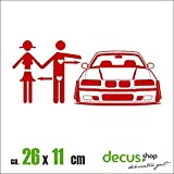 CAR LOVE BMW E36 XL 1623 // Sticker OEM JDM Style Aufkleber (Rot)