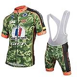 Wulibike Maillot Cuissard Cyclisme Homme Manche Courte Tenue Velo Route Equipe Pro Été