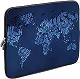 Sidorenko Laptop Tasche für 15-15,6 Zoll | Universal Notebooktasche Schutzhülle | Laptoptasche aus Neopren, PC Computer Hülle Sleeve Case Etui, Blau