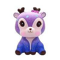 Isuper Squishy Doll,Squishy Ciervo,Squishy juquete de Animado Suave decoraciòn Lenta Levantar Exquisito Niño antiestrés (Galaxia) de Isuper