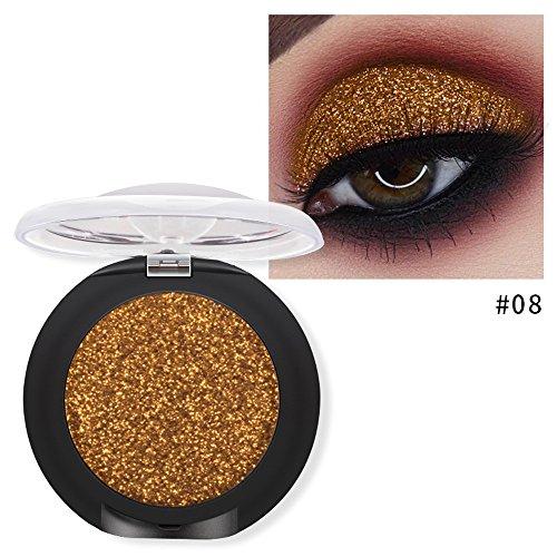 20 Farben Lidschatten Diamant Makeup Perle Metallic Lidschatten-Palette Make Up YunYoud Diamant-Lidschatten-Tablett