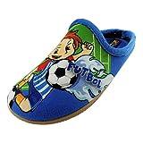 ALBEROLA Kinder Hausschuh/Pantoffel Helle Junge Spielt Fussball A11279A - EU 28-34 (34)