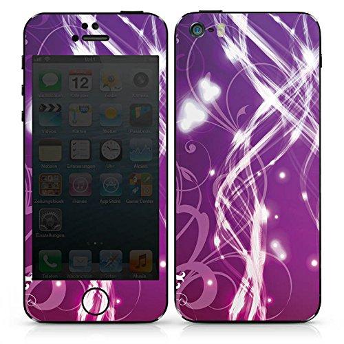 Apple iPhone SE Case Skin Sticker aus Vinyl-Folie Aufkleber Lichter Ranken Muster DesignSkins® glänzend