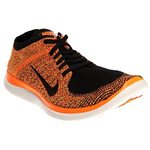 Nike Free 4.0 Flyknit, Chaussures de running homme Black, Total Orange