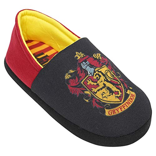 Boys Girls Official Harry Potter Slippers Gryffindor Hogwarts Shoe Sizes 11-3