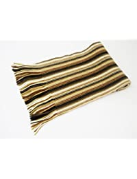 2 ply Pure Cashmere Ladies Stripe Scarf, Charcoal