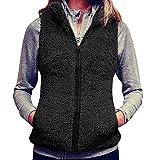 Igemy Frauen Einfarbig Warm Stehkragen Jacke Winter SAMT Parka Outwear Weste