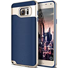 Funda Galaxy Note 5, Caseology [serie Wavelength]. Fina cubierta protectora de doble capa con sujecion texturizada [Azul Marino - Navy Blue] para Samsung Galaxy Note 5 (2015)